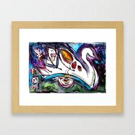 Intergalactic Swan Framed Art Print