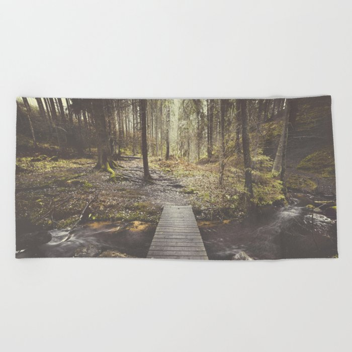 My home, the forest Beach Towel