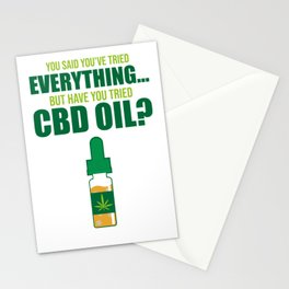 CBD Oil Lover Hemp Cannabidiol Funny Gift Stationery Cards