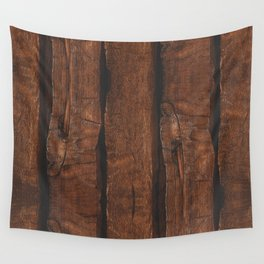 Rustic brown old wood Wall Tapestry