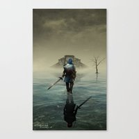 Canvas Prints featuring The hardest battle lies within - Version 2 (NEW) by Bradygoldsmith