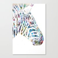 zebra Canvas Prints featuring Zebra by NKlein Design