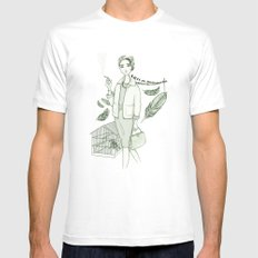 The Birds - Movies & Outfits White MEDIUM Mens Fitted Tee