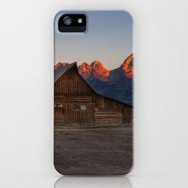 Moulton Barn - Sunrise in Grand Tetons iPhone Case