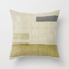 """""""Burlap Texture Natural Shades"""" Throw Pillow"""