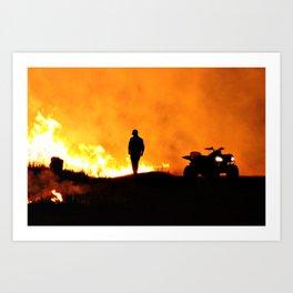 Burn It II Art Print