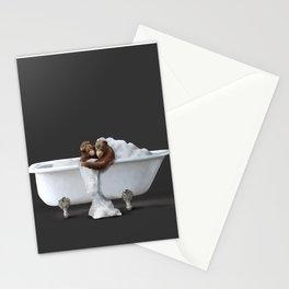 Orangutans in Bath Stationery Cards