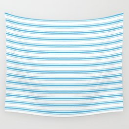 Oktoberfest Bavarian Blue and White Large Mattress Ticking Stripes Wall Tapestry