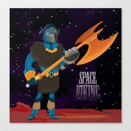 Space Viking (in Space) Canvas Print