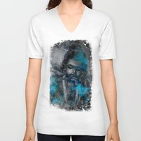 hindu V-neck T-shirts featuring Krishna The mischievous one - The Hindu God by sarvesh