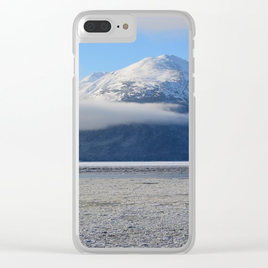 Winter Fog - Turnagain Arm, Alaska Clear iPhone Case