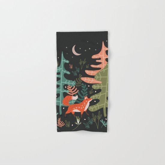 Evergreen Fox Tale Hand & Bath Towel