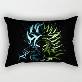 Blue vs Green Rectangular Pillow