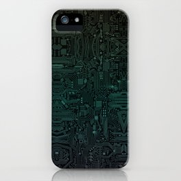 Circuitry Details iPhone Case
