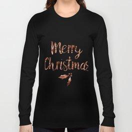 Rose gold Christmas Long Sleeve T-shirt