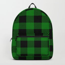 Green Buffalo Plaid Backpack