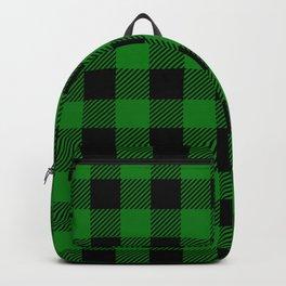 Green Buffalo Plaid Backpack
