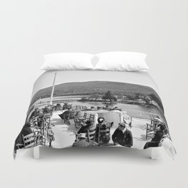 Vintage Lake George: Huletts Landing Duvet Cover