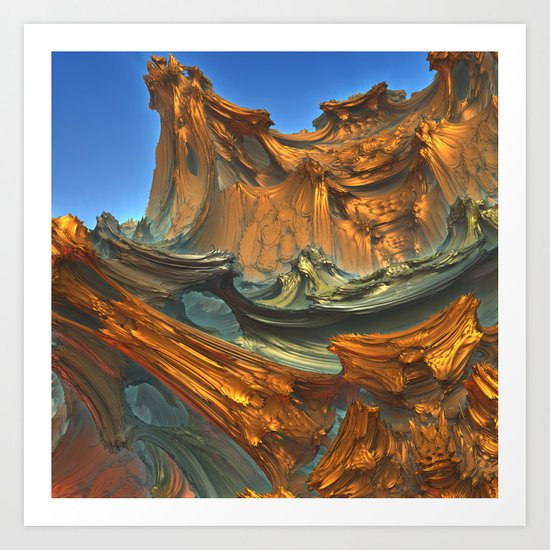 Scaling the North Face Art Print