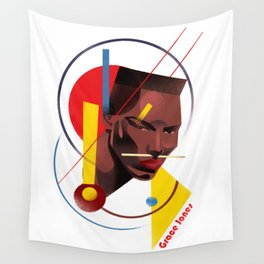 Famous people in a bauhaus style - Grace Jones Wall Tapestry