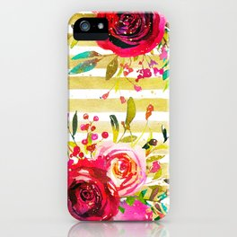 Flowers & Stripes 2 iPhone Case