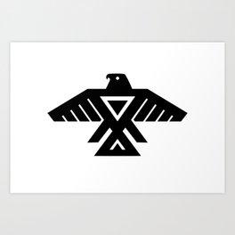 Thunderbird flag - Authentic Hi Def Art Print