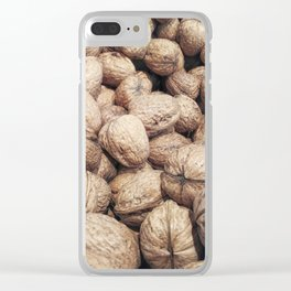 walnuts with shell Clear iPhone Case