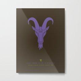 Capricornus Zodiac / Sea-goat Star Sign Poster Metal Print