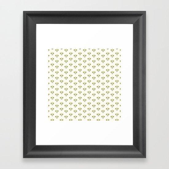 Butter Peonies Framed Art Print