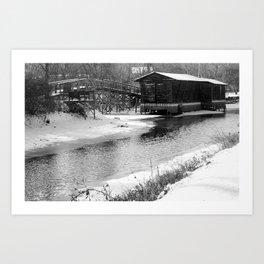erie canal Art Print