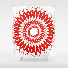 orange kaliedoscope Shower Curtain