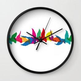 A colourful flight of fancy Wall Clock
