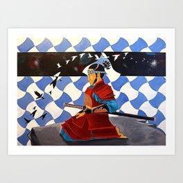 SAMURAI MEDITATION Art Print