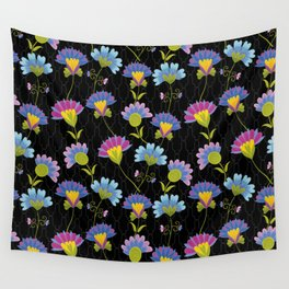 Decorative Floral Pattern Wall Tapestry