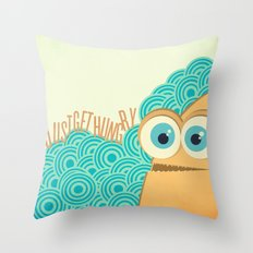 i just get hungry Throw Pillow