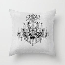 belle époque chandelier Throw Pillow