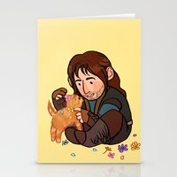 kili Stationery Cards featuring Kili and Kitten by Hattie Hedgehog