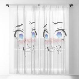 Ahegao Girl Sheer Curtain