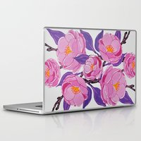 study Laptop & iPad Skins featuring Flower study by Bexelbee