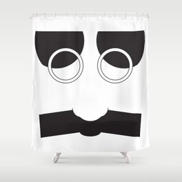 Face Groucho Graphic Shower Curtain