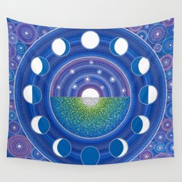 Moon Phase Mandala Wall Tapestry