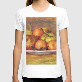 12,000pixel-500dpi - Pierre-Auguste Renoir - Still Life With Apples, Tangerines And Lemon T-shirt