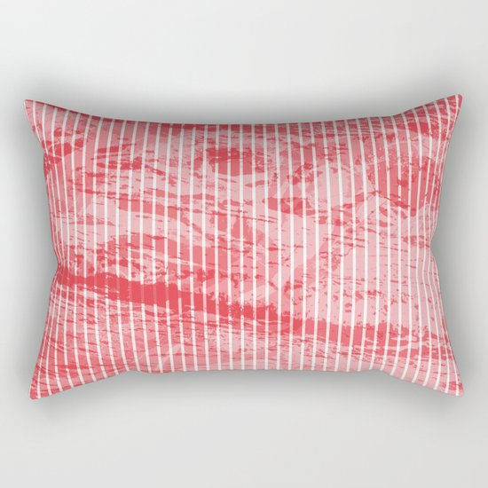 Grunge red and white stripes texture Rectangular Pillow