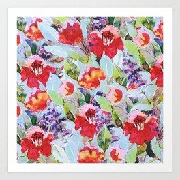 campagne fleurie Art Print