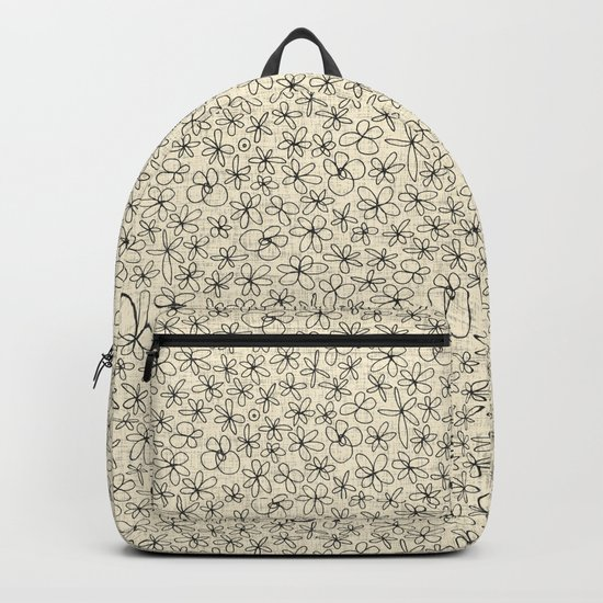 garland flowers ivory Backpack
