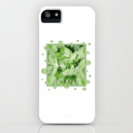 Dove With Celtic Peace Text In Green Tones iPhone Case