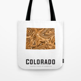 Colorado - State Map Art - Abstract Map - Brown Tote Bag
