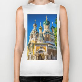 Russian Orthodox Cathedral, Nice France Biker Tank