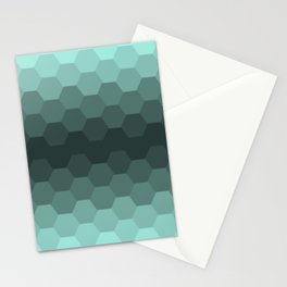 Teal Mint Honeycomb Stationery Cards