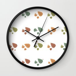 The leaves fall Wall Clock